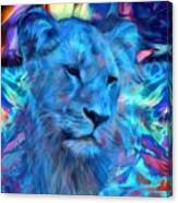 The Blue Lioness Canvas Print