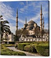 The Blue Mosque In Istanbul Turkey Canvas Print