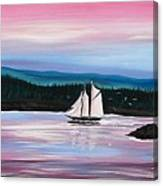 The Blue Nose II At Baddeck Nova Scotia Canvas Print