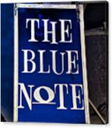 The Blue Note - Bourbon Street Canvas Print