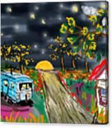 The Blue Trailer Canvas Print