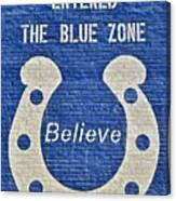 The Blue Zone Canvas Print