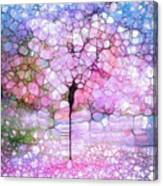 The Blushing Tree In Bloom Canvas Print