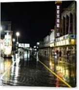 The Boardwalk At Night Canvas Print