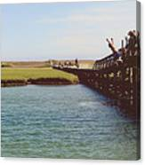 The Boardwalk Leap Canvas Print
