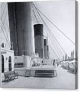 The Boat Deck Of The Titanic Canvas Print