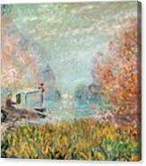 The Boat Studio On The Seine Canvas Print