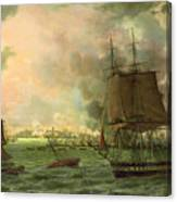 The Bombing Of Cadiz By The French  Canvas Print