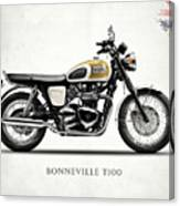 The Bonneville T100 Canvas Print
