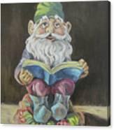 The Book Gnome Canvas Print