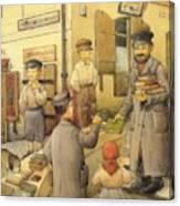 The Bookman Canvas Print