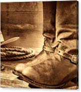 The Boots Canvas Print