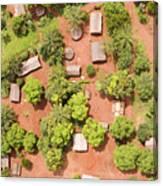 The Border Town Village Of Bangassou Canvas Print