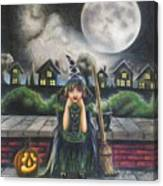 The Bored Little Witch Canvas Print