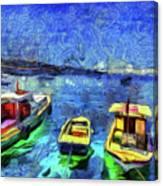 The Bosphorus Istanbul Art Canvas Print