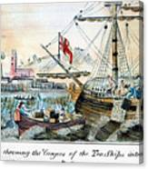 The Boston Tea Party, 1773 Canvas Print
