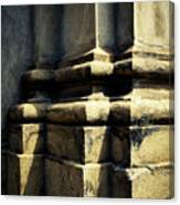 The Bottom Of The Pillar Of The Old Building Canvas Print
