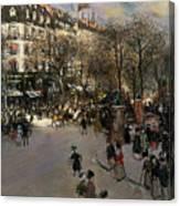 The Boulevard Des Italiens Canvas Print