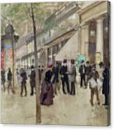 The Boulevard Montmartre And The Theatre Des Varietes Canvas Print