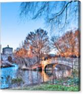 The Bow Bridge In Central Park Canvas Print
