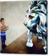 The Boy And The Lion 10 Canvas Print