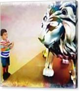 The Boy And The Lion 11 Canvas Print