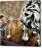 The Boy And The Lion 13 Canvas Print