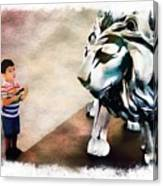The Boy And The Lion 9 Canvas Print