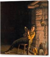 The Boyhood Of Lincoln Canvas Print