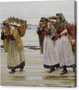 The Breadwinners Or Newlyn Fishwives Canvas Print