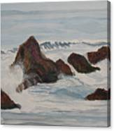 The Breakers At Seal Rock II Canvas Print