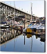 The Bridge And Marina Canvas Print
