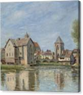 The Bridge And Mills Of Moret Sur Loing Canvas Print
