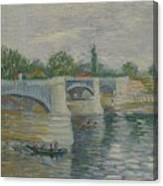 The Bridge At Courbevoie Paris, May - July 1887 Vincent Van Gogh 1853  1890 Canvas Print