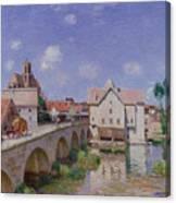 The Bridge At Moret Canvas Print
