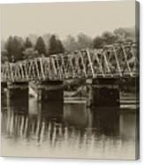 The Bridge At Washingtons Crossing Canvas Print