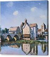 The Bridge Of Moret In The Sunlight Canvas Print