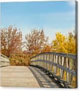 The Bridge To Autumn Canvas Print