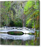 The Bridges In Magnolia Gardens Canvas Print