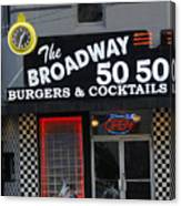 The Broadway 50 50 Canvas Print
