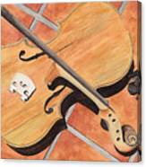 The Broken Violin Canvas Print