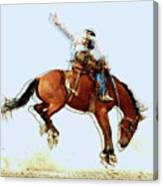 the Bronc Buster Canvas Print