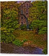 The Bronx River Stone Mill Canvas Print