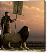 The Bronze Knight Of The Isle Of Lions Canvas Print