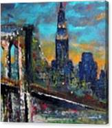 The Brooklyn Bridge Canvas Print