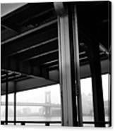 The Brooklyng Bridge And Manhattan Bridge From Fdr Drive Canvas Print