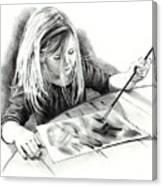 The Budding Artist Canvas Print