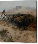 The Buffalo Hunt Canvas Print
