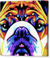 The Bulldog By Nixo Canvas Print