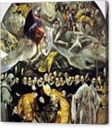 The Burial Of The Count Of Orgaz 1587 Canvas Print